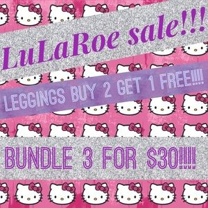 LuLaRoe leggings 3 for $30!